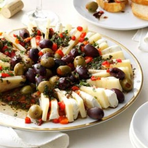 Olives and Mozzarella